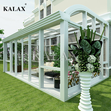 Free standing prefabricated glass conservatory / portable sunrooms with polycarbonate roof