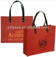 High quality promotion burlap tote bag