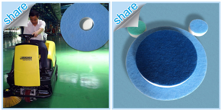 China Wholesales Floor Clean Diamond Pads Square Melamine Sponge Scouring Pad