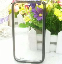 for Samsung Galaxy S4 Mini hybrid case,tpu bumper and pc frame case