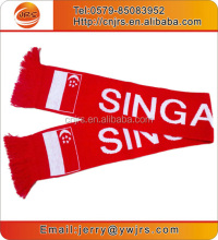 Hot style fans scarf for sale singapore scarf knitting hockey fan scarf