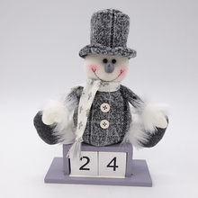 23CM christmas snowman 2018 wooden desk advent calendar