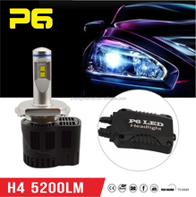 h4 12v 55w led Manufaturer P6 5200LM/bulb 5202 LED car light led car head lamp with upgraded functions and appearance