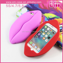 Sexy Lips Phone Case Soft Silicone Cell Phone Case For iPhone5S 6S 6PLUS