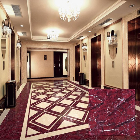China Factory Glazed Polished Red Marble Floor Tile Buy Red