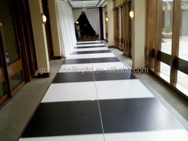Lobby covered black and white dance floor led dancing floor for sale