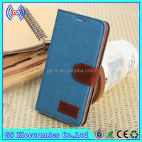hot sell cell phone accessories jeans denim flip cover for samsung galaxy s4 mini i9109 case