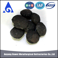 sale of low Anyang Dawei steelmaking 10-60mm ferro silicon alloy brequettes