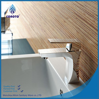 Chrome Single handle Unique water ridge brass shower faucet