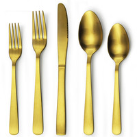 gold spoon & fork set royal stainless steel cutlery set