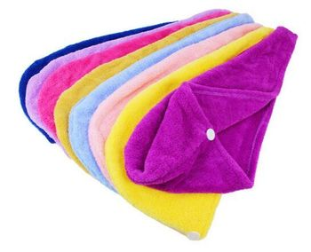 Promotiona hair towel with embroidery logo