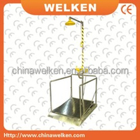 Manufacture Foot control stainless steel combination Emergency safety shower and eye wash with platform