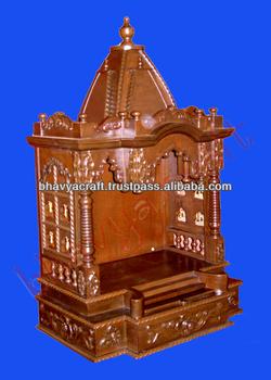 Wooden Temple Altar Mandir Hindu God Statue Indian Temple For Home Buy Wooden Home Temple