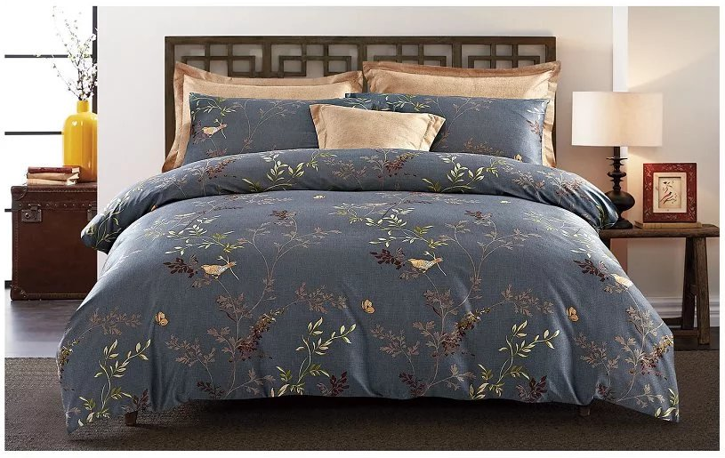 microfiber bedding 100%polyester printed bed sheet sets name of bed HFJ
