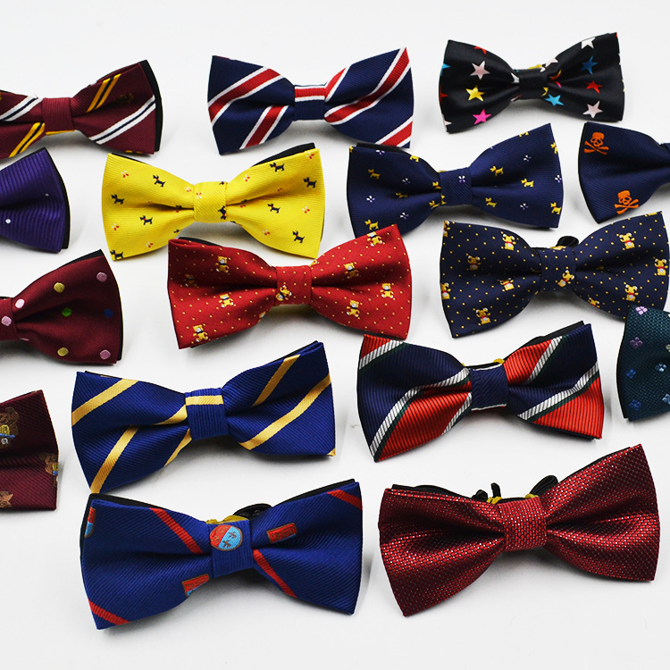 Children Fashion Formal Cotton Bow Tie Kid Classical Dot Bowties Colorful Butterfly Wedding Party Pet Bowtie Tuxedo Ties BT-20