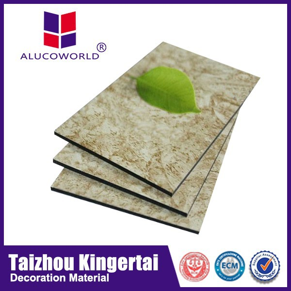 Alucoworld 3mm 4mm Stone Finish aluminum composite panel(acp/acm)