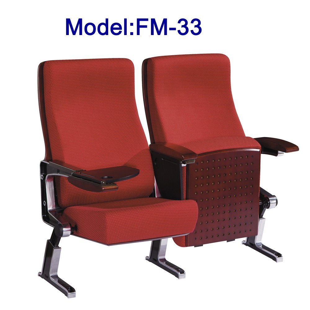 FM-33 folding theater auditorium hall chair with writing table