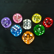 6 Sided Dot 14mm Resin Dices For Custom logo Poker Puzzle Game set Gambling Pieces Toy Table Games Accessories
