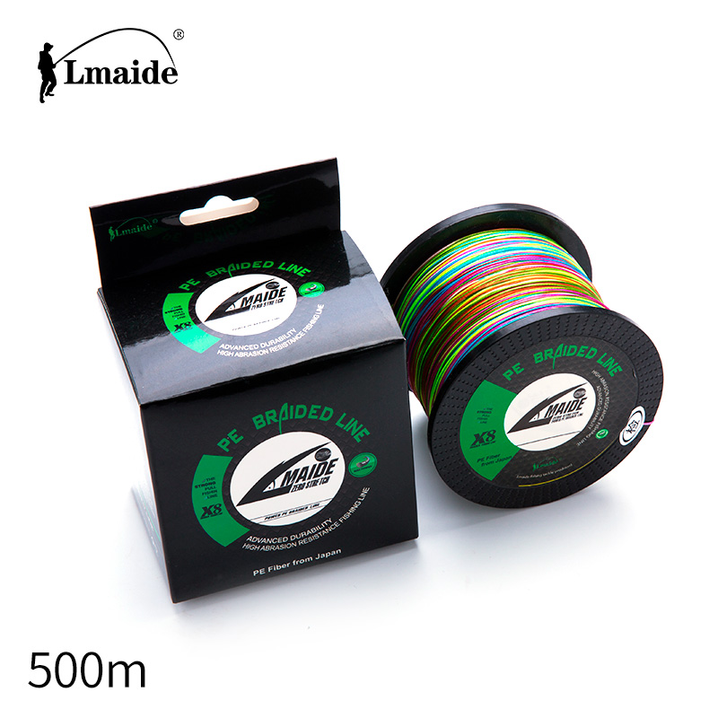 500m japan <strong>pe</strong> 8-strands abrasion resistant braided fishing line monofilament fishing line 4LB-120LB