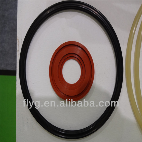 Flat Rubber O Ring/Custom O Ring/Customed Silicon Rubber Parts