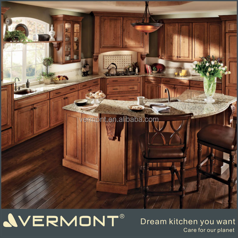 veneer laminated wood door kitchen cabinet design import from china