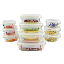 High Borosilicate Meal Prep Glass Food Storage Containers with lids