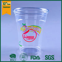 12oz,250ml disposable plastic coffee cup