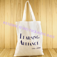 China customized printed reusable cotton canvas tote bag with handle
