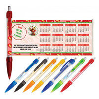 Clear pull out banner pen for advertising