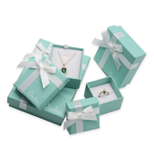 Yilucai Tiffany Blue Color Jewelry Boxes Necklace Gift Boxes