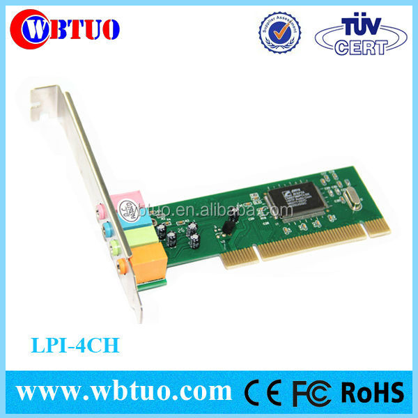 Shenzhen factory cheapest price 4 channel CMI8738 PCI Sound Card driver
