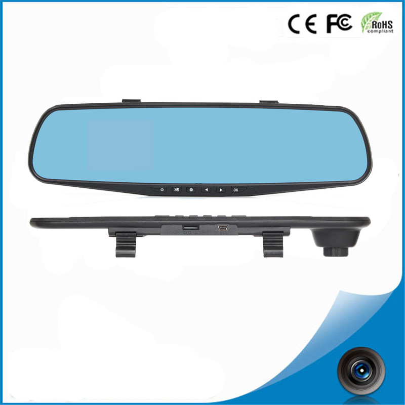 2016 newest dual cam rearview mirror FHD1080P Car DVR fashionable design 2.0 megapixel dash cam car