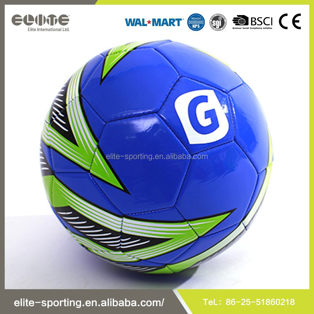 Colorful Machine Stitched Rubber Bladder PVC Football