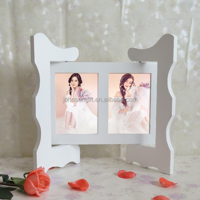 Europe Ancient Folding Screen 2 Opening Wood Collage Photo frame For Couples Gifts