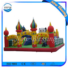 Kids game inflatable city inflatable obstacle course