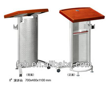 Angle adjustable wooden top metal portable podium (FOHK-8)