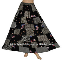 Indian Womens Ethnic Cotton Patchwork Skirt