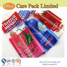 Food packaging back side sealing bag plastic transparent popsicle wrapper