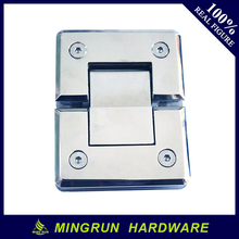 Supply factory price Bevel Fillet stainless steel 180 degree double open shower door pivot hinges