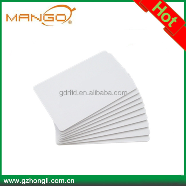 Special offer T5577 white card blank rfid 125khz writable rfid card