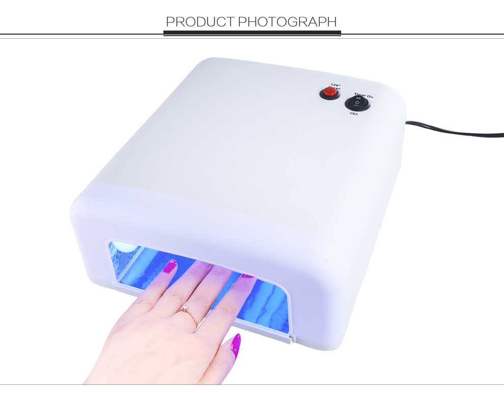 Best 818 New Arrival 36W UV LED Nail Lamp Electric 4 LEDs Nail Dryer for All Gels with 30s/60s Button Perfect Thumb Solution