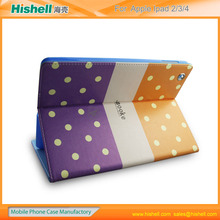 hottest outstanding leather tablet case for ipad2/3/4