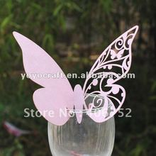 New arrival wedding supplies personalized handmade butterfly in various colors with fast shipment place cards