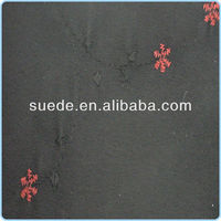 100% Polyester Fabric Weft Suede with Embroidery design