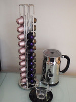 New strong for 40 pod Rotating Nespresso Capsule Holder Dispenser stand Coffee