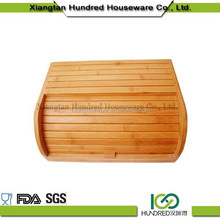 100% Bamboo material bamboo box for bread cake,small bamboo bread storage box food safe oiled finishing packaging box
