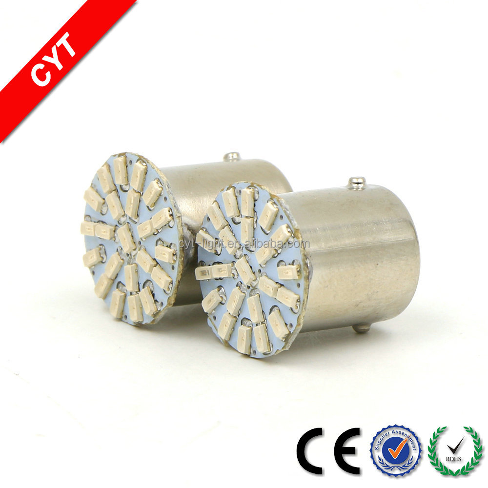 High quality 3528 BA15S SMD 3W 12V 22 LEDs 7000K Blue Motorcycle/Car LED Turn signal light