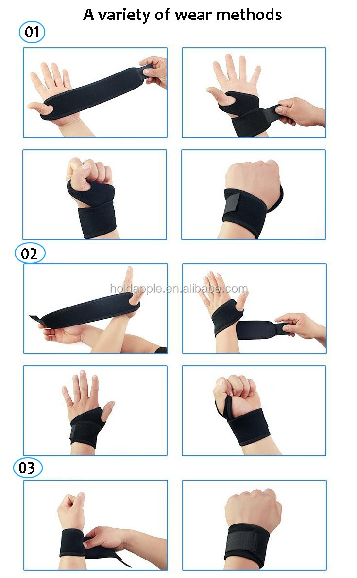 Wrist Support Breathable Neoprene Wrist Wrap Fitted Right Wrist Brace HA01640