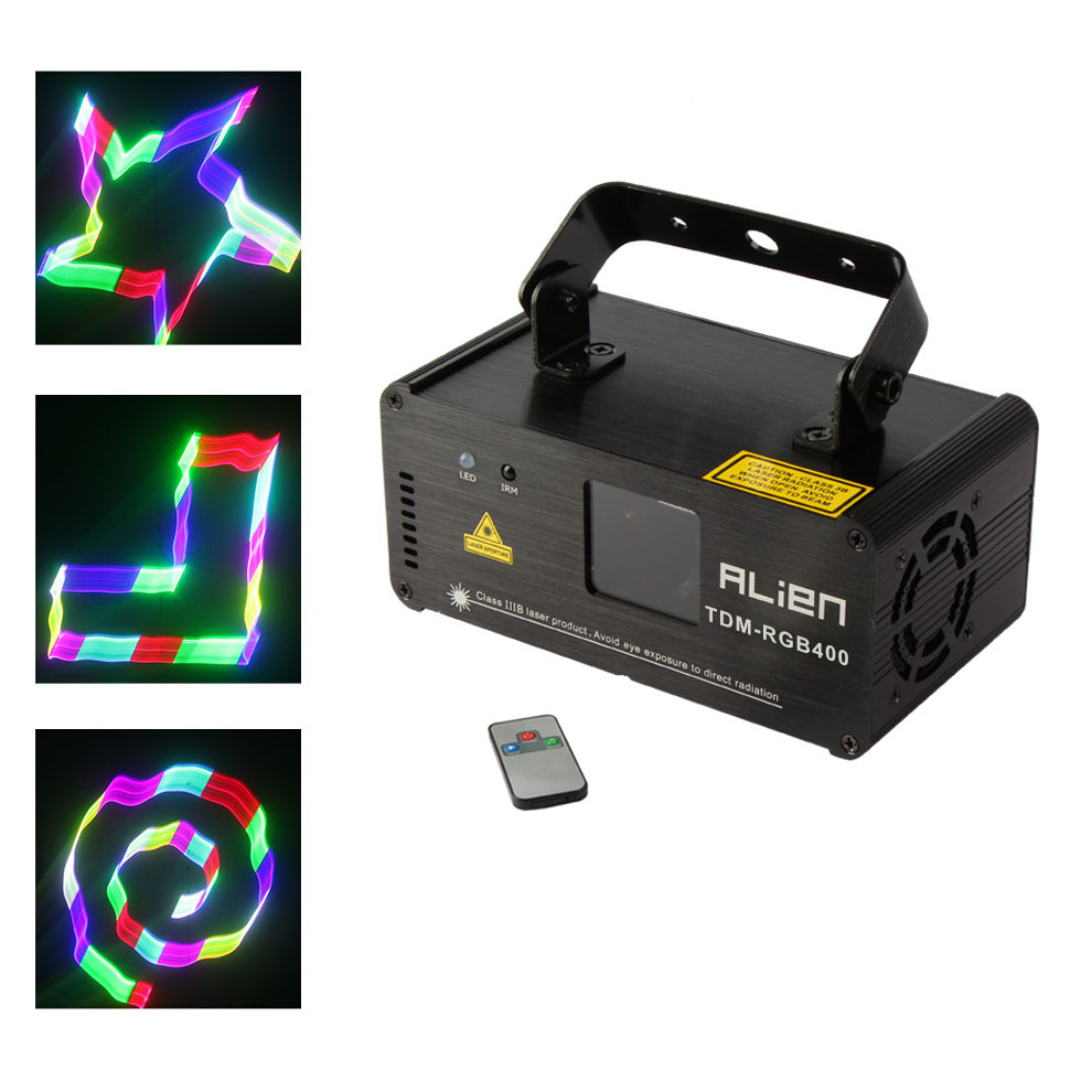 RGB Full Color 3D Party Light Projector Laser Stage Lighting DMX