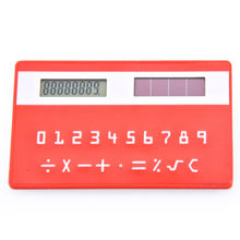 Solar powered Thin Pocket Credit card size Calculator